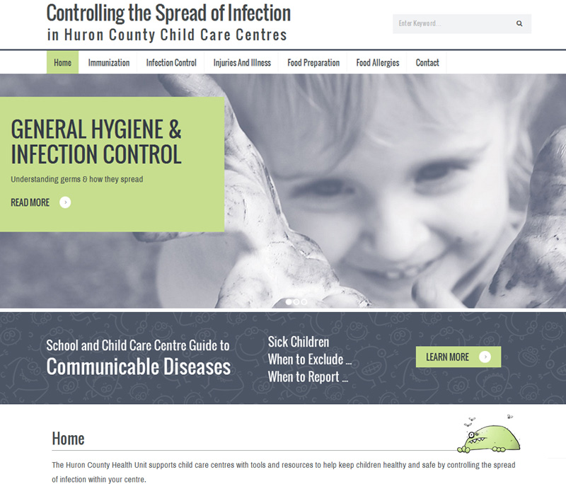 Huronc County Health Unit Daycare Website