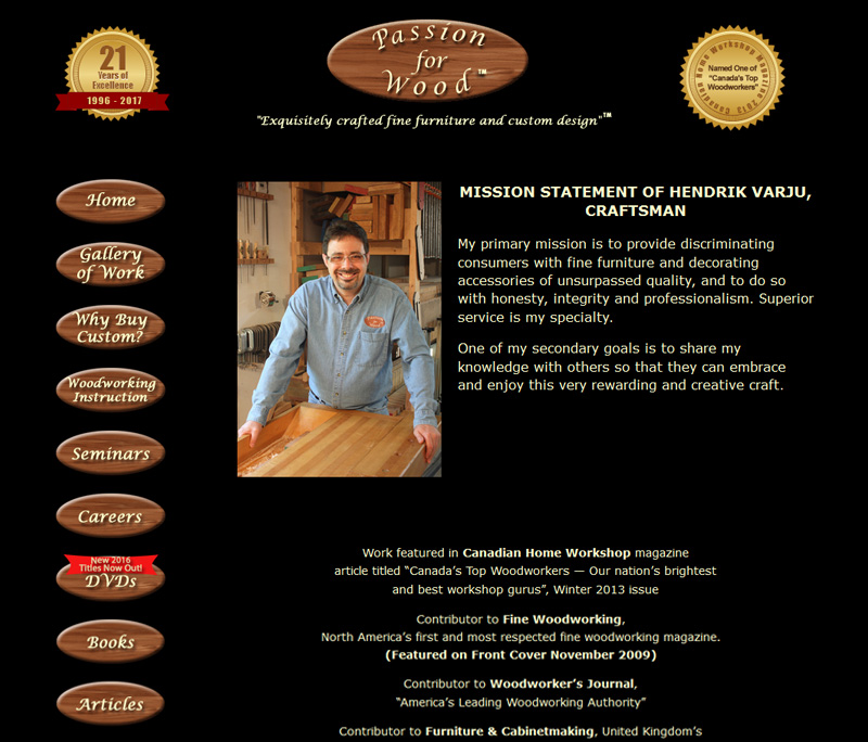 Passion for Wood Website